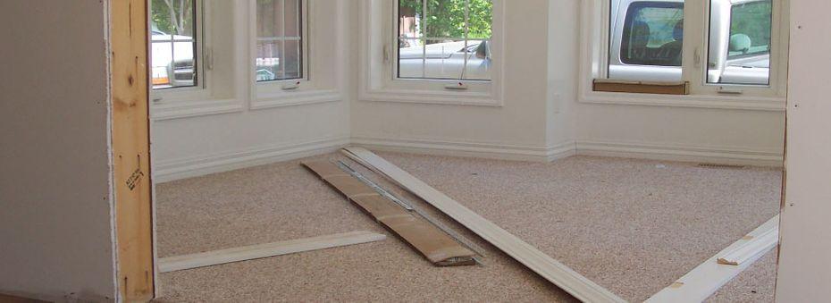 installation of flooring